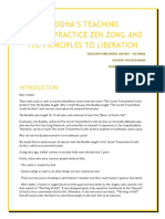 BUDDHA'S TEACHING HOW TO PRACTICE ZEN ZONG AND THE PRINCIPLES TO LIBERATION