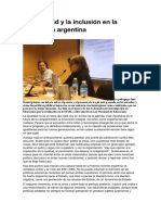 La igualdad y la inclusión en la educación argentina(1)