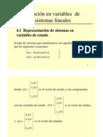 Descripcion de variables de estado
