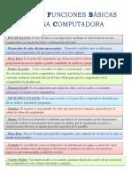 Partes y Funciones Básicas de Una Computadora