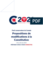 Congrès du Parti conservateur / Propositions de modifications à la Constitution