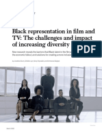 Black Representation in Film and TV the Challenges and Impact of Increasing Diversity