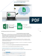 Transfer Data from Microsoft Excel to Google Sheet _ TheDataLabs