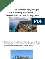 Informe de expertos asegura que Chile no respeta