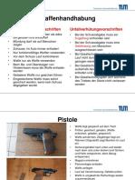Waffenhandhabung TUM Zusammenfassung