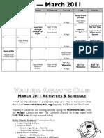 March 2011 VJO Team Calendar