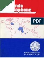 FSI - Le Monde Francophone - Student Text