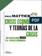 Crisis económica y teorías de la crisis