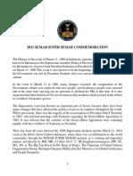 Sambutan Semar Super Semar 2021 - in English