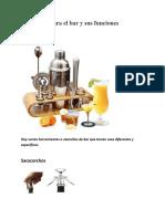 Utensilios para el bar y sus funciones modificado