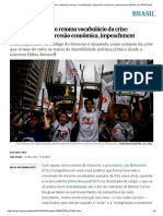 Brasil de Bolsonaro retoma vocabulário da crise_ manifestação, depressão econômica, impeachment _ Brasil _ EL PAÍS Brasil