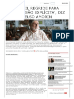 Brasil regride para 'submissão explícita', diz Celso Amorim _ Brasil 247