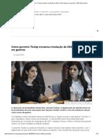 Como governo Trump esvaziou resolução da ONU contra estupro em guerras - BBC News Brasil