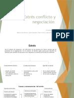 Estrés conflicto y negociación
