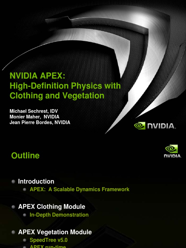 APEX_Clothing_and_Vegetation_GDC09 | Software