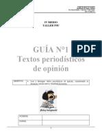 GUÍA  1  PSU  LENG GÉNEROS DE OPINIÓN