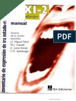Manual STAXI-2 Inventario de Expresión de Ira Estado-Rasgo
