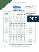 Calendario de Vencimientos - SUNAT 2021