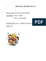 INFORME FINAL DE PRÁCTICA II