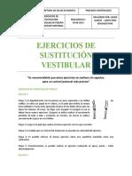 EJERCICIOS DE SUSTITUCIÓN VESTIBULAR (1)