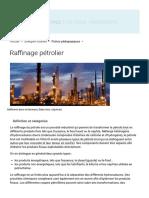 Raffinage pétrolier _ principe, fonctionnement, acteurs et raffinerie