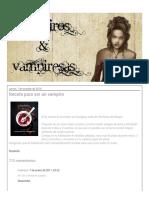 Vampiros y Vampiresas_ Receta para ser un vampiro