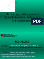 Textes législatifs HSE