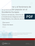 Vicente Ferrer y El Fenómeno de La Predicación Popular en El Occidente Europeo