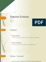 Espécies Exóticas