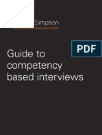 Competency based interviews