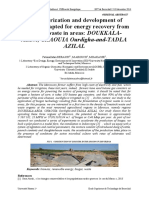 Characterization and development of methods adapted for energy recovery from organic waste in areas