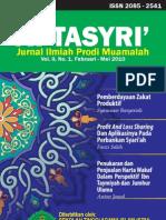 Jurnal At-Tasyri' volume 2 nomor 1