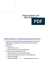 Project charter and Goal Statement