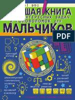 Большая книга самых интересных задач и головоломок для мальчиков 2017
