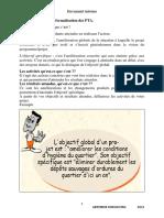 Note Technique Sur La Formalisation Des PTA
