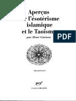 Aperçus Sur Lésotérisme Islamique René Guenon
