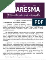 TEMPO DA QUARESMA - LITURGIA