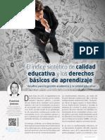 El indice sintético de la calidad educativa y los DBA