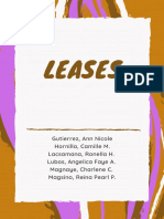 Leases (Chapter 10-12)