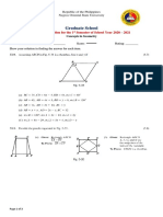 Concepts in Geometry Final Exam 2021 Part 2