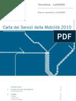 Carta dei Servizi della Mobilità 2010