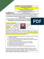 APLICACIÓN DE TÉCNICAS DE ENTRENAMIENTO PARA EL DESARROLLO DE HABILIDADES SOCIOEMOCIONALES