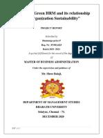 Green Human Resources Management Project(Shanmugapriya)
