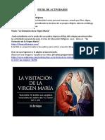 FICHA DE ACTIVIDADES - SEMANA 8 - EDUCACIÓN RELIGIOSA -  LA VISITACION