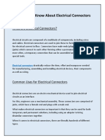 Everything To Know About Electrical Connectors