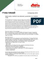 Press release NIR implementation (14 December 2010