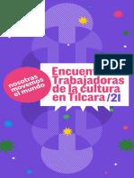 Programa - Encuentro de Trabajadoras de La Cultura en Tilcara - Nmm (1)