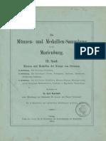 Die Münzen- und Medaillen-Sammlung in der Marienburg. Bd. III