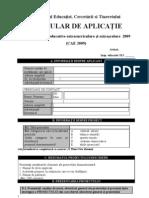 Formular de Aplicatie Pentru Proiectele Educative