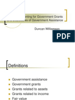 accounting for government grants